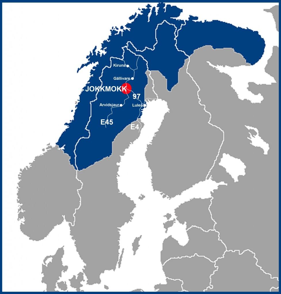 Sverigekarta Jokkmokk